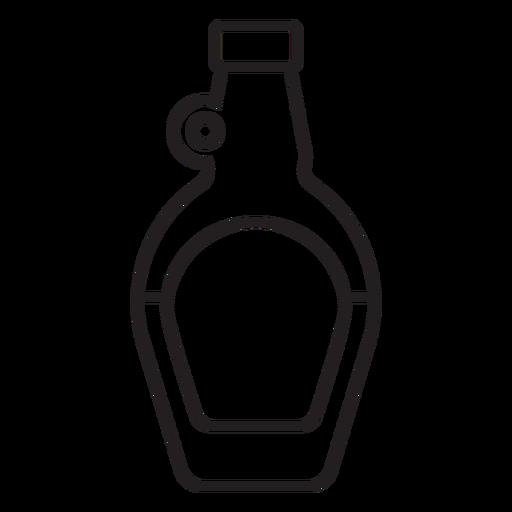 botella bebida trazo simple Transparent PNG