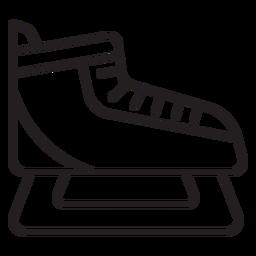 ice skating shoe stroke