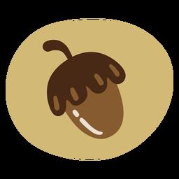 Outono de bolota simples