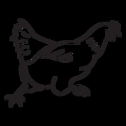 Sprint de pollo doodle