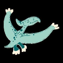 Dinosaurio lindo volando