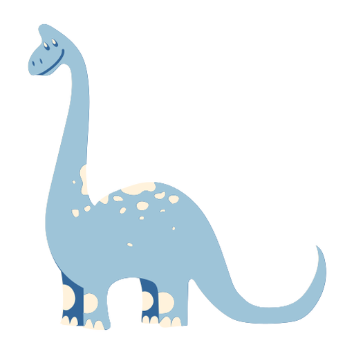 Lindo dinosaurio sonriente