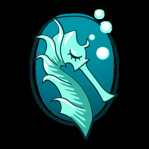 Lindo caballito de mar con estilo Transparent PNG
