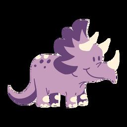 Dinossauro sorridente fofo
