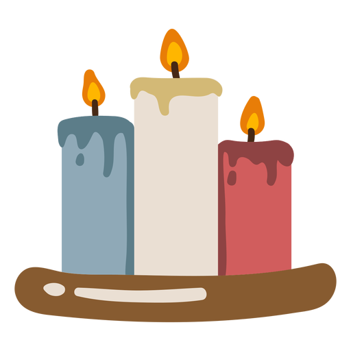 Different colors candles