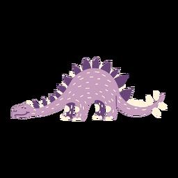 Dinosaurier auf allen Vieren Seitenansicht