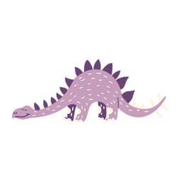 Dinosaurio a cuatro patas vista lateral
