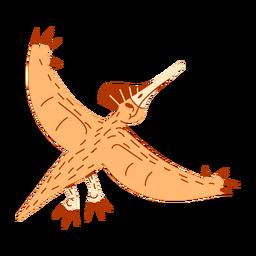 Dinossauro voando fofo