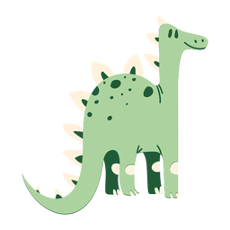 Pé de pescoço longo de dinossauro