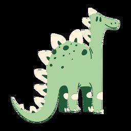 Pescoço comprido de dinossauro em pé