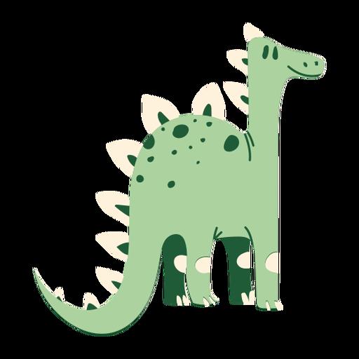 Dinosaurio largo cuello de pie Transparent PNG