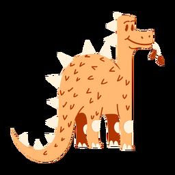 Dinossauro mastigando folhas