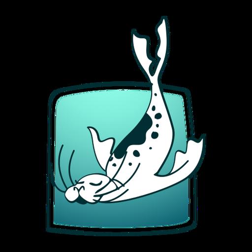 Diving stylish seal