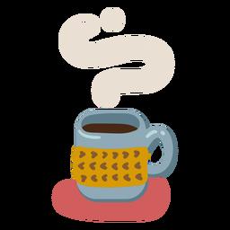Caneca de café quente