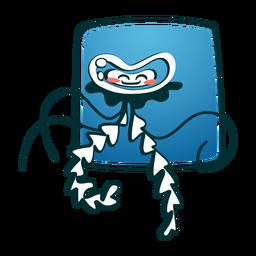 Água-viva sorrindo elegante