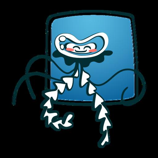 Água-viva sorrindo com estilo
