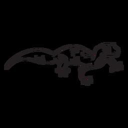 Golpe de vista lateral de lagarto
