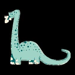 Mastigando folhas dinossauro