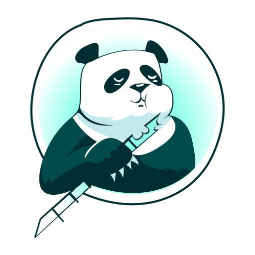 Panda bamboo stylish Transparent PNG