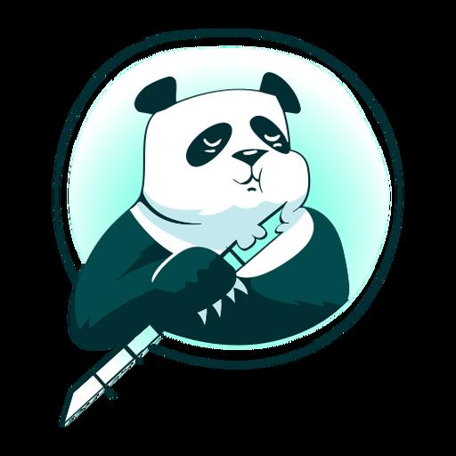 Panda de bambú con estilo Transparent PNG