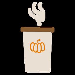 Taza de café con leche de calabaza