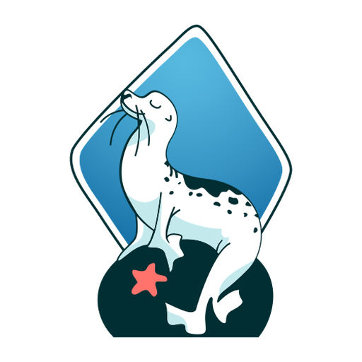 Seal smiling stylish Transparent PNG