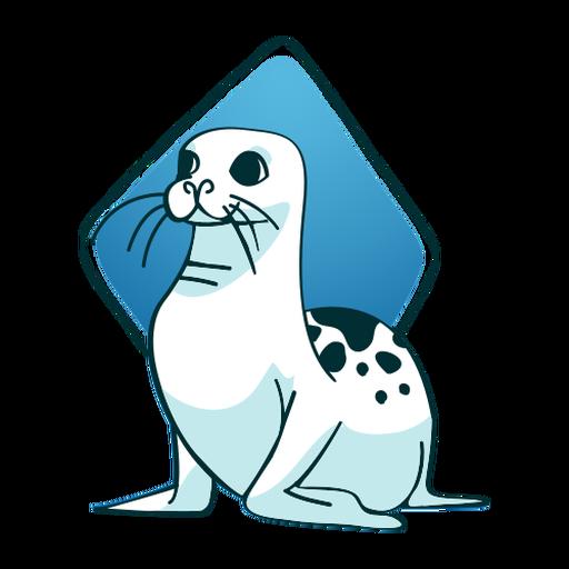 Sitting seal stylish seal