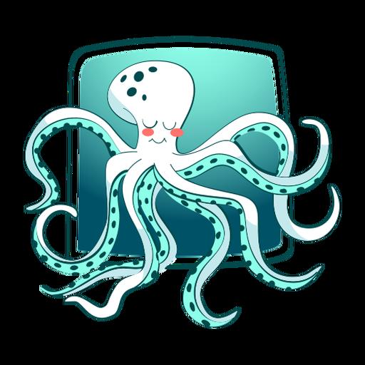 Sleeping octopus stylish