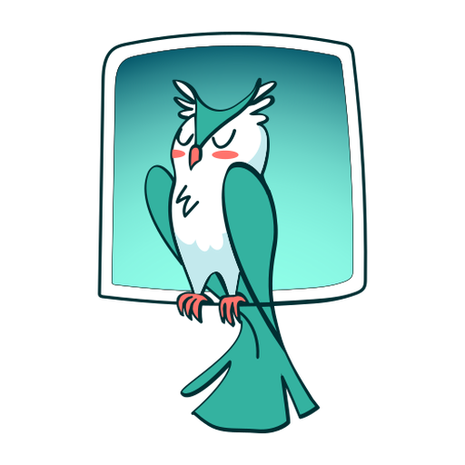 Sleeping owl stylish Transparent PNG