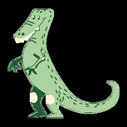 Dinossauro de pé dos desenhos animados