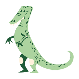 Standing cartoon dinosaur