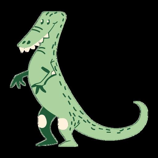 Dinosaurio de dibujos animados de pie Transparent PNG