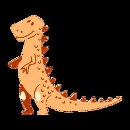 Dibujos animados de dinosaurios de pie