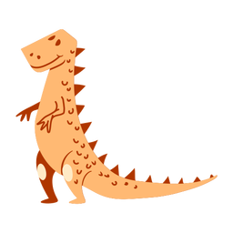Standing dinosaur cartoon