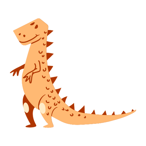 Standing dinosaur cartoon Transparent PNG