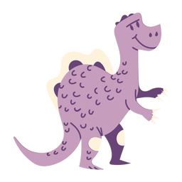 Standing dinosaur sideview