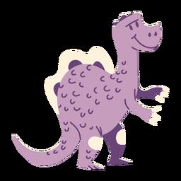 Vista lateral do dinossauro em pé