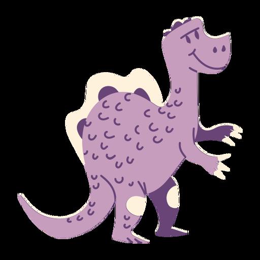 Vista lateral de dinosaurio de pie Transparent PNG