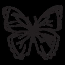 Stroke butterfly simple