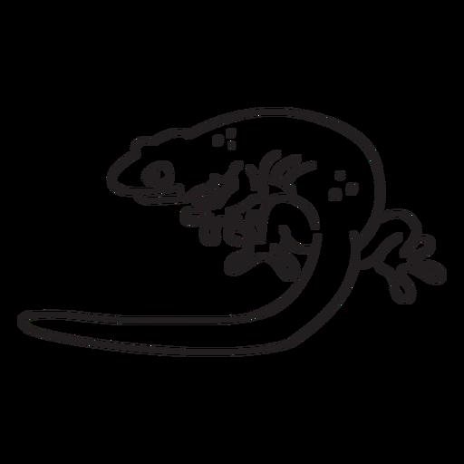Trazo simple lagarto Transparent PNG