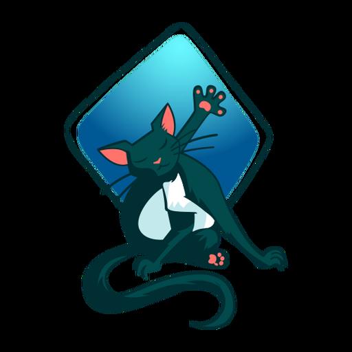 Stilvolle Illustration Katze