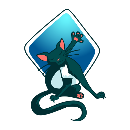Stylish illustration cat