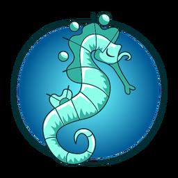 Cavalo marinho ilustração elegante