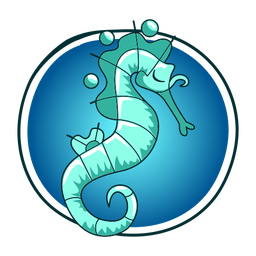 Ilustración elegante caballito de mar