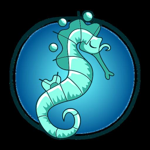 Ilustración elegante caballito de mar Transparent PNG