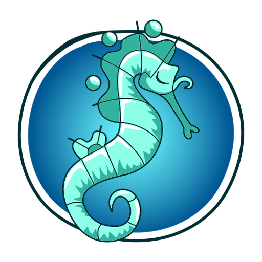 Stylish illustration seahorse