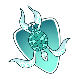Stylish illustration turtle