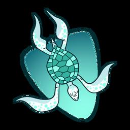 Tartaruga à moda da ilustração