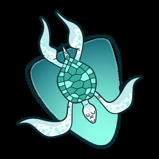 Ilustração de tartaruga elegante