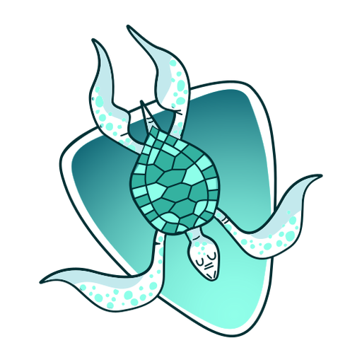 Stylish illustration turtle Transparent PNG